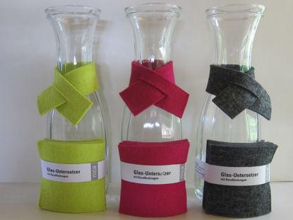 Bild von Glasuntersetzer mit Karaffenkragen