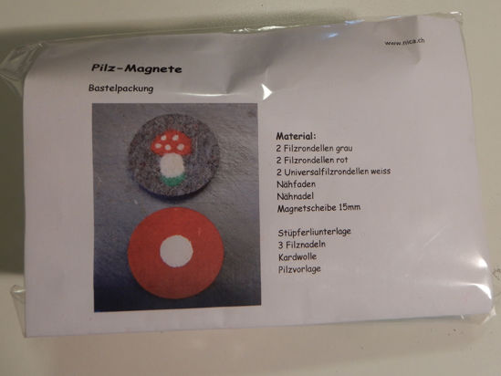 Picture of Bastelpackung Pilz-Magnete