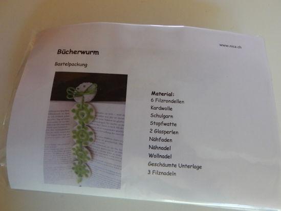 Picture of Bastelpackung Bücherwurm