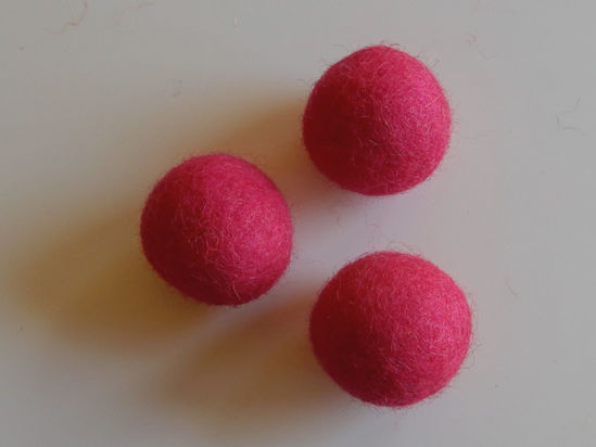 Bild von Filzkugel pink