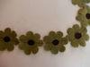 Bild von Filzblumen olive 60 Stück