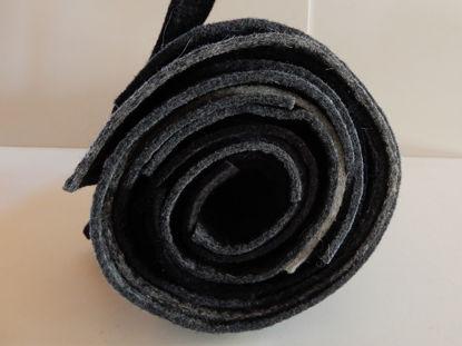 Picture of Filzresten grau schwarz